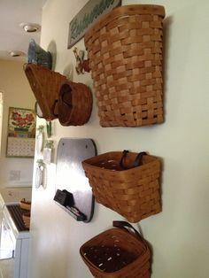 Wall of Longaberger baskets
