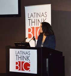 """""""We want a chair at the boardroom table of the same companies that enthusiastically target our dollars."""" Dr. Angelica Perez. #LatinasThinkBig"""
