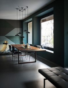 modern and masculine dining table