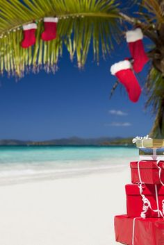 Christmas at a Caribbean beach