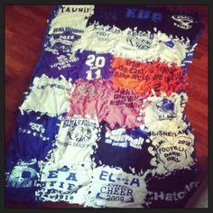 Tshirt tie blanket