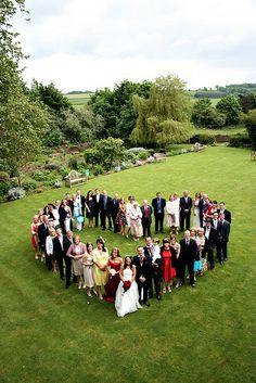 Love this idea!  parti photo, bridal party photos, heart, family photos, group shot, bridal parties, group photos, famili photo, photo idea