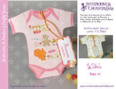 Invitacion con diseño de payaso de bebe