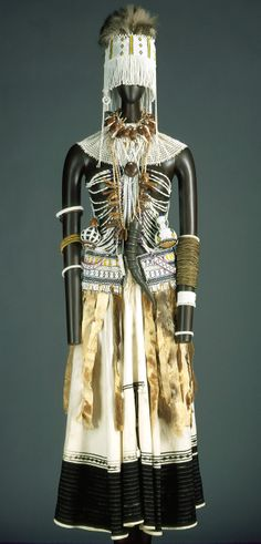 Costume for a female diviner (Igqirakazi), before 1966, Xhosa peoples, Thembu subgroup, South Africa.