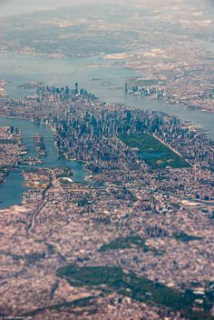 Tilt shift photo of Manhattan (north looking south) by Tim Skylarov.