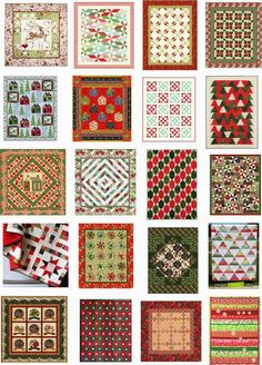 NEW!  Quilt Inspiration: Free pattern day ! Christmas - Part 3