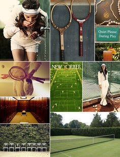 Preppy Tennis Inspiration Board | Camille Styles
