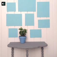 Lay out your gallery wall with paper templats to make arranging your frames easier. #Vine #Lowesfixinsix