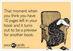 books, hate, disappoint, book funny, funni, bookworm quotes, happen, cri, funny book quotes