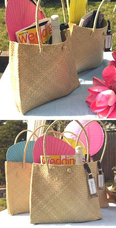 shoulder bags, palm leaf