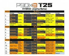 P90X Schedules on Pinterest | Workout Schedule, P90x Workout and P90x3 ...