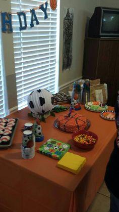Sports theme birthday party