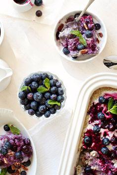 Blueberry steel cut oats