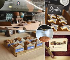 Airplanes, burlap, and a whole lotta' vintage style, this Rustic & Vintage Aviation Party is in on the blog today! #Airplane http://hwtm.me/17NPf5W