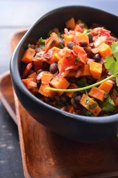Chipotle Honey Sweet Potato and Black Bean Salsa from @Erica {Coffee & Quinoa}