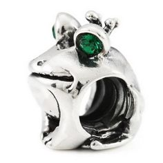 Sterling Silver Frog Prince Ohm Bead Charm SWAROVSKI GENUINE OHM BEADS