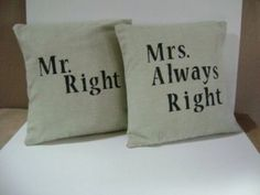 pillow, shower gifts, gift ideas, hous, happy marriage, bedroom, wedding presents, true stories, wedding gifts