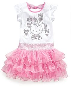 Hello Kitty Girls Dress, Little Girls Princess Tutu Dress - Kids Girls 2-6X - Macys  - Pinned for Kidfolio, the parenting mobile app that makes sharing a snap.