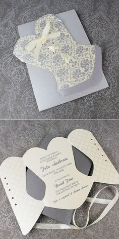 Lace-Up Corset Invitation Template