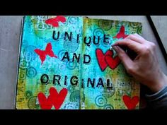 GREAT video showing a journal page from start to finish in a moleskine sketch book.  'love'