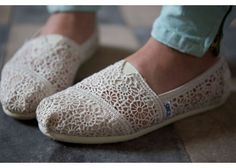 Crochet TOMS - perfect for summer weddings