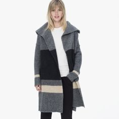 James Perse Striped Blanket Sweater Coat || Oh my, my, my...i need this in a big way.
