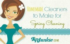 Homemade Cleaners to Make for Spring Cleaning