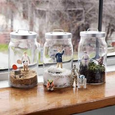 """Star Wars"" terrariums from ""World of Geekcraft: Step-by-Step Instructions for 25 Super-Cool Craft Projects"" by Susan Beal."