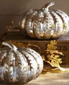 holiday, glass pumpkin, mercuri glass, glasses, antiqu mercuri
