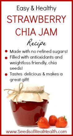 Strawberry Chia Jam Recipe - www.SeedsofRealHealth.com