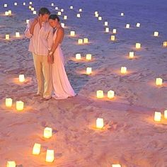 Beach wedding would be cute for getting married at sunset