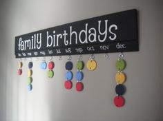 Family Birthday Board!