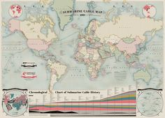 2013 Submarine Cable Map $250