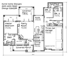 2,600 sq ft with 3 car garage and jack and jill bathroom - House Plans by Korel Home Designs