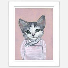 Framed Cat Print Elise now featured on Fab.