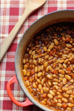 An easy slow cooker baked bean recipe is a must-have side dish recipe any time of the year. These Apple Cider Slow Cooker Beans make a batch of delicious slow cooker homemade beans that will complement all your BBQ dishes and more.
