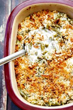 Easy Green Bean Casserole with Blue Cheese