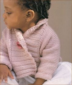 Ribbed Baby Jacket by Debbie Bliss