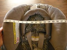 How to make a fitted car seat cover pattern
