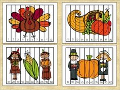 Thanksgiving Puzzles FREEBIE - Ordering Numbers by 1's & 10's