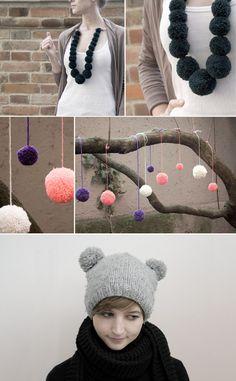 make your own pom poms <3 omg hat