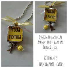 Spina Bifida awareness necklace, I could totally make this.