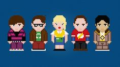 The Big Bang Theory Characters Cross Stitch