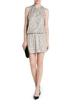 MANGO - Open back sequined dress