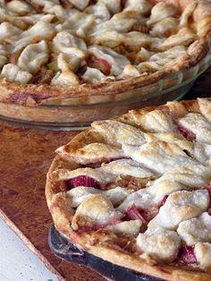 Rhubarb Pie - only rhubarb