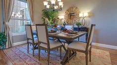 Invite #family over this #weekend for #Sunday #brunch in your charming Darling Homes #formal #dining #room. #dining #table