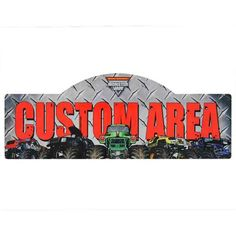 Monster Jam Personalized Wall Mount