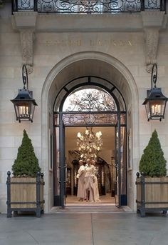 Ralph Lauren on Greenwich Avenue is a newly built structure with an imposing Beaux-Arts limestone facade, large arched windows and balconies; the residential-like interior has several smaller rooms and a grand staircase.