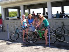Spend a day biking around Put-in-Bay, Ohio. Bikes are $4 round trip aboard @Miller Ferries to Put-in-Bay & Middle Bass.