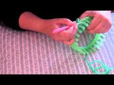 M Cómo tejer un triangulo en un telar redondo - YouTube